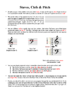 Lesson 1 Handout 1 Staves, Clefs & Pitch