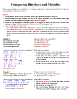Lesson 11 Handout 1 Composing Rhythms and Melodies