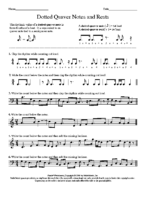 Lesson 4 Exercise 3 Dotted Quaver Notes