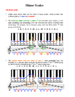 Lesson 6 Handout 1 Minor Scales