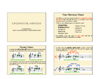1) Handout 1 Non-Harmony Notes & Extended Diatonic Chords