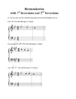 3) Exercise 2 Harmonisation with Inversions