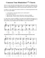 4) Handout 4 Common Tone Diminished 7th Chords